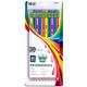 Ticonderoga #2 Soft Neon Striped Pencils - 10 count