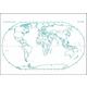 World Map Dbl Sided Dry Erase Board 11