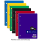 Spiral-Bound Wide Ruled 5-Subject Notebook 150 Sheets