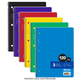 Spiral-Bound College Ruled 3-Subject Notebook 120 Sheets