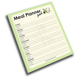 Meal Planner Pad - Write it Down Jumbo 50-page Notepad