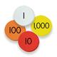 Place Value Discs - 4-Value Whole Numbers (Sensational Math)