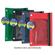 Pencil Pouch 3-Ring with Mesh Window (assorted colors)