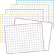 Math Grid Dry Erase Boards (pack of 5) (1 each of 5 colored borders)