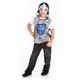 Blue Crusader Vest & Silver Helmet Set