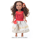 Polynesian Princess Doll Dress with Hair Clip