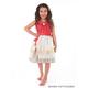 Polynesian Princess Dress with Hair Clip - Large