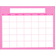Magnetic Calendar Moroccan Pink - Write-N-Wipe (22 x 28)
