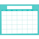 Magnetic Calendar Moroccan Teal - Write-N-Wipe (22