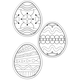 Color Me Cut-Outs: Eggs (pack of 36)