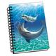Bubbles Dolphins 3D Notebook 4
