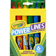 Crayola PowerLines Washable Project Markers with Scents 6 count