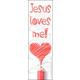 Jesus Loves Me Bookmark