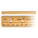 Ruler - Wood - Double Beveled/Metal Edge Economy