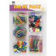 Value Pack #5A - 5 Compartment Clam Shell, Vinyl Paper Clips, Assorted Push Pins, Jumbo Paper Clips, Assorted Color Binder, Rubber Bands