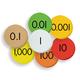 Place Value Discs - 7-Value Decimals to Whole Number (Sensational Math)