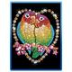 Sequin Art Blue Love Birds