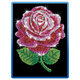 Sequin Art Blue Red Rose
