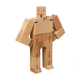 Cubebot Micro (Wooden Toy Robot) natural beech