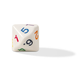 Tetradecagon Dice 14 Sided (29MM) 1 to 7 Twice