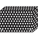 Decorated Poly Index Card File Box - Black & White Dots (3.5x5.3x1)