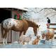 Winter Barnyard Family Jigsaw Puzzle (350 piece)