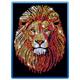 Sequin Art Blue Lion