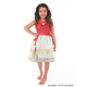 Polynesian Princess Costume with Hair Clip - Small
