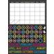 Scribble Chalk Calendar Magnetic Mini Bulletin Board Set