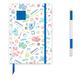 LEGO Journal White with Blue 4x4 Brick & Blue Gel Pen
