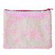 Iridescent Pink/White Magic Sequin Zip Pouch