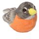 Audubon Bird:American Robin Plush w/Bird Call