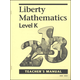 Liberty Mathematics Level K Teacher Manual