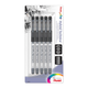 Pentel Hybrid Technica Pigment Ink Pen with Assorted Tip Sizes - Black (pack of 5)