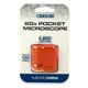 MicroMini 20x LED Pocket Microscope - Orange