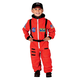 Jr. Astronaut Suit with Embroidered Cap - size 4/6 (Orange)
