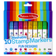Washable 10 Stamp Markers - Fun Designs