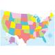 Magnetic U.S. Map Chart