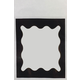 Black Scallop Border Library Pockets - 25 Clearview Pockets
