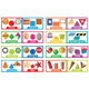 Shapes and Solids Mini Bulletin Board Sets: 16 pieces