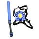 WhomBatz Ninja Tag Scorekeeping Breastplate & Bolt Pack - Blue