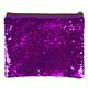 Purple / Silver Magic Sequin Zip Pouch