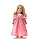 Coral Renaissance Doll Dress