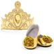 Doll Shoes & Tiara - Gold