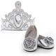 Doll Shoes & Tiara - Silver