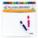 Dry Erase Placemats (Large) Set of 4