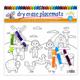 Dry Erase Placemats Mixed Print, Set of 4