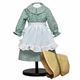 Green Dress with Apron & Straw Hat for 18