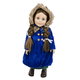 Vintage Blue Coat with Hat and Muff for 18