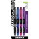 Zebra Fountain Pen - .6mm (asstd colors) 4 Pk